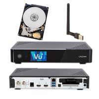 Vu+ Uno 4K Se DVB-S2 Linux + 1TB Festplatte & einem Wlan-Stick mit Antenne