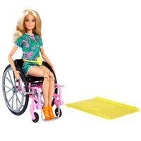 Barbie blonde Fashionistas Puppe mit Rollstuhl, Anziehpuppe, Modepuppe