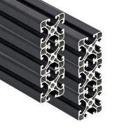 PremiumX 6x 2000mm Aluminium Profil Aluprofil 40x40 mm Nut 8 Strebenprofil Anthrazit