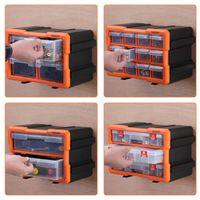 Monzana Kleinteilemagazin Sortimentskasten erweiterbar 4 F/ächer Sortierbox f/ür Kleinteile Aufbewahrungsbox Werkstatt