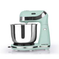 GOURMETmaxx Küchenmaschine Retro 250W Mint | 6 Geschwindigkeiten | Kipp-Kopf