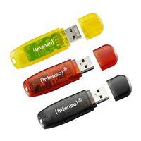 Intenso USB Stick 16GB 3er Pack in Deutschland Farben