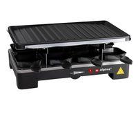 Alpina Raclette Grill - mit Pfannen und Spachteln - 1400 Watt - 8 Personen