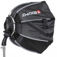 Impulsfoto Triopo MX-SK55 Softbox 55cm für Blitzgeräte, Weiche Ausleuchtung, Schirm-Softbox mit 180° Neigung