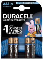 Duracell AAA Ultra Power (4pcs), Alkali, Zylindrische, 1.5 V, LR03, 45 x 11 x 11 mm
