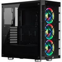 Corsair Mid-Tower ATX Smart Case iCUE 465X RGB Seitenfenster, Mid-Tower, Schwarz, Netzteil im Lieferumfang enthalten Nein, Stahl, Tempered Glass