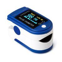 Pulsoximeter Fingerpulsoximeter für die Messung des Puls und der Sauerstoffsättigung am Finger,blau 5.7*3.2*3.2cm
