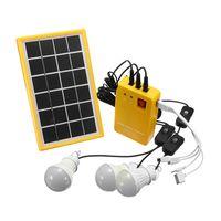 Solar Panel Generator System 3 LED-Licht USB-Ladegerät 5V USB