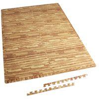 Schutzmattenset mit Endstücken - Holzoptik
