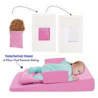 Baby Anti - Reflux Bett ROSA Kirschkernkissen Keil Bett Kissen Kinderbett 9021-2