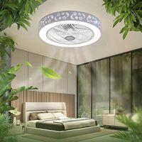 40W Deckenventilator mit Beleuchtung Modern Fan Deckenleuchte Deckenlampe LED Dimmbar Fernbedienung Dekoration Beleuchtung