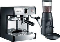 Graef pivalla SET - Espressomaschine - 2,5 l - Gemahlener Kaffee - 1410 W - Schwarz