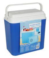 Kühlbox 22 Liter 12 Volt blau Auto Camping Picknick Kühl Box