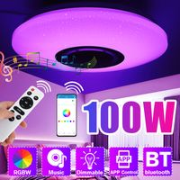 Elegant 100W Dimmbare LED RGBW Deckenleuchte bluetooth Music Speaker Lamp APP Fernbedienung AC180-265V 114 LEDs