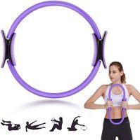 Pilates Ring - Magic Fitness Ring Geräte - Sport Trainingsgeräte für Zuhause zum Training & zur Stärkung der Inneren & Äußeren Oberschenkel - Beckenboden Trainer mit Workout Poster & Tasche