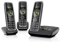 Gigaset C 530 A Trio Schnurloses Telefon Schwarz Babyphone-Funktion Anklopfen