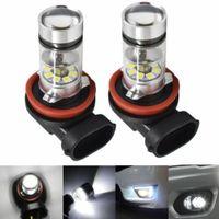 2x H8/H9/H11 LED Nebelscheinwerfer Birnen Auto Tagfahrlicht Weiß Lampen 6000K 100W Kit