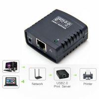 Printserver Druckerserver Ethernet auf USB 2.0 Netzwerk LPR Print Server