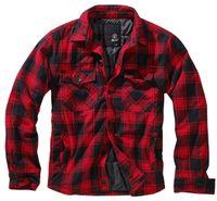 Brandit Jacke Lumberjacket in Red/Black-XL