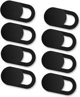 [8er Set Webcam Abdeckung, Slider Camera Cover Ultra dünne Webcam Cover Privacy-Schutz Kamera Abdeckung  - (Schwarz)