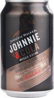 Johnnie Walker und Cola Mixed Drink 10% 0,33L