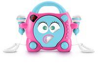 bigben CD-Player CD59 Girl mit 2 Mikrofonen - Farbe: Türkis/Pink; AU355260