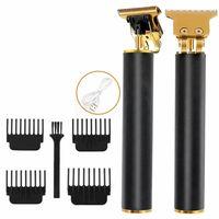 Profi Haarschneidemaschine Haarschneider Bart Trimmer Rasierer Hair Clipper USB,mit 4 x Begrenzungskamm,1* Reinigungsbürste,1* USB-Ladekabel