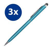 3x Stylus Pen Eingabestift für iPhone iPad Smartphone Tablet Handy kapazitiver Touchscreen Stift Tabletstift blau