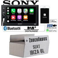 Seat Ibiza 6L - Autoradio Radio mit XAV-AX1005DB - 2DIN Bluetooth | DAB+ | Apple CarPlay  | USB - Einbauzubehör - Einbauset
