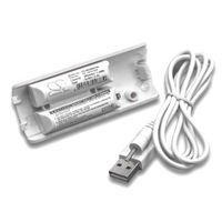vhbw Akku kompatibel mit Nintendo Wii Controller Gamepad Controller (400mAh, 2,4V, NiMH)