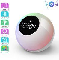 VADOOLL Lichtwecker mit Bluetooth Lautsprecher, Wake up Light Aufladbar Wecker, 7 Naturtönen, Touch Control, Schlafshilfe Musik, Nachtlicht mit 3 Helligkeitsstufen, RGB Stimmungslicht für Schlafzimmer