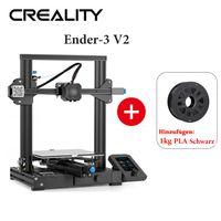 Creality 3D-Drucker Ender 3 v2 - 220 * 220 * 250 mm + 1KG Schwarz PLA-Filament