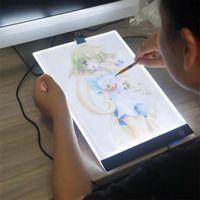 LED Licht Pad A4 Leuchttisch Leuchtplatte Tragbare Light Pad mit USB Kabel Ultradünne Tragbare Lichtkasten  für Zeichnen Animation Malen Skizzierung 9140