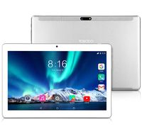 TOSCIDO Tablets 10 Zoll 4G LTE Dual SIM, Android 10.0 ,Octa Core,64GB, 4GB RAM,Doppelt Lautsprecher Stereo,WiFi/Bluetooth/GPS,1017, Farbe: silber