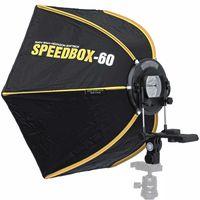 Impulsfoto SMDV Speedbox-60, Hexagon-Softbox 60cm, Weiche Ausleuchtung, Für entfesselte Aufsteckblitze mit Standard ISO / Sony Multi Interface Blitzschuh