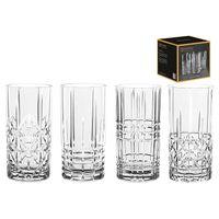 Nachtmann 0097784-0 Longdrinkbecher 'Highland' Kristallglas, 375 ml, H: 15,1 cm, ø 7,7 cm, transparent, 4-teilig (1 Set)