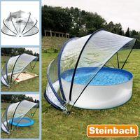 Steinbach 440x220cm Pooldach Gartendach Cabrio Dome für Aufstellpools