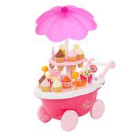 Kinder Süßigkeiten Eiswagen Spielzeug mit Licht & Ton für Kinder Mädchen Eiscafé Rollenspiel