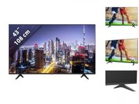 Hisense 4K Ultra HD LED TV 108cm (43 Zoll) 43A7100F, Triple Tuner, HDR10, Smart TV