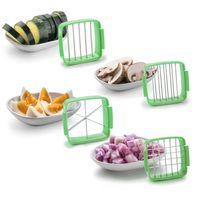 Nicer Dicer Quick, Obst- und Gemüseschneider, 7 Teile, Grün