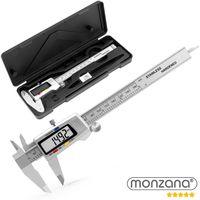 Monzana® Messschieber | gehärteter Stahl | inkl Hardcase und 2x Batterie | deutliches LCD-Display | umschaltbar Millimeter / Inch / Zoll | Messbereich 0-150mm Profimessgerät Schieblehre digital