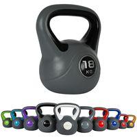 Kettlebell Kunststoff, Farbe:18 Kg - Schwarz
