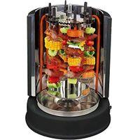 Syntrox Chef Grill ROX-1400W-BL Dönergrill Rotisserie mit 6 drehbaren Außenspießen Schwarz