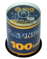 100 Platinum CD-R Rohlinge 52X 80min 700MB *Spindel*