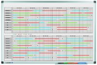 Legamaster Legamaster Projektplanungstafel PREMIUM 90 x 60 cm (B x H) inkl. Zubehörset: 1x 4er Set Etikettenträger 10 x 60 mm Aluminium alu