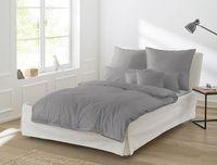 Irisette Mako-Satin uni Bettwäsche Set uni Bettwäsche 2 teilig Bettbezug 135 x 200 cm Kopfkissenbezug 80 x 80 cm Paris 8000-12 grafit