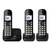 Panasonic KX-TGC 463 GB Schnurloses-Telefon schwarz, Farbe:Schwarz