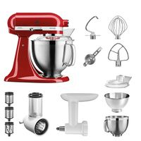 Küchenmaschine Artisan 5KSM185PS Starter Paket, Farbe:empire rot