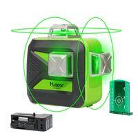 Huepar 603CG rotationslaser lasermessgeräte 12 linienlaser 3D Cross Line Laser Level Selbst Nivellierung 360 Vertikale und Horizontale Grüne Strahl