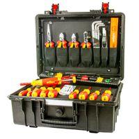 Wiha Werkzeugkoffer Basic Set L electric 34-tlg., VDE Lehrlingskoffer IP67